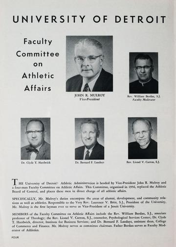 University of Detroit vs. University of Kentucky Program