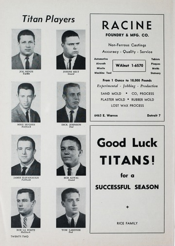 University of Detroit Football Collection: University of Detroit vs. University of Kentucky Program