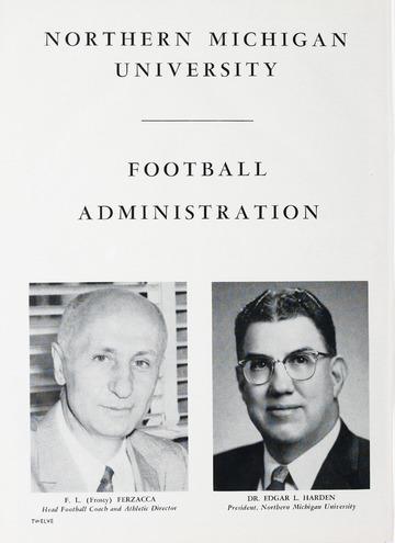 University of Detroit Football Collection: University of Detroit vs. Northern Michigan Program