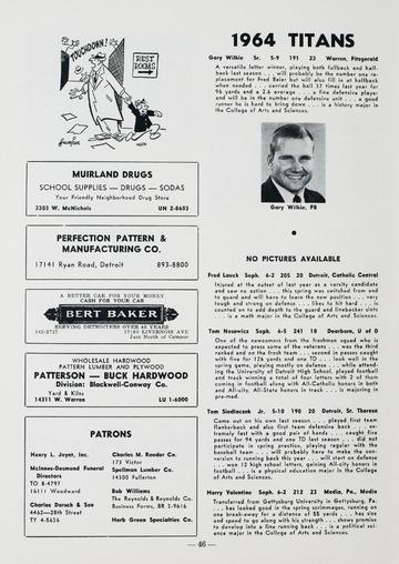 University of Detroit Football Collection: University of Detroit vs. Virginia