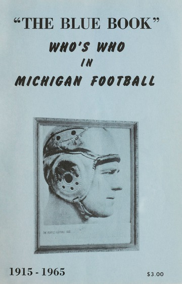 University of Detroit Football Collection: University of Detroit Blue Book