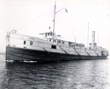 Fr. Edward J. Dowling, S.J. Marine Historical Collection: Alaska - Port side bow view, notice the open freight gangways. Circa 1890.
