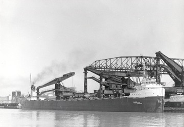 Fr. Edward J. Dowling, S.J. Marine Historical Collection: Daniel J. Morrell - Unloading under the Huletts in a Lake Erie port