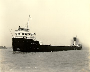 Fr. Edward J. Dowling, S.J. Marine Historical Collection: Port side bow view, near Detroit, c.1940.