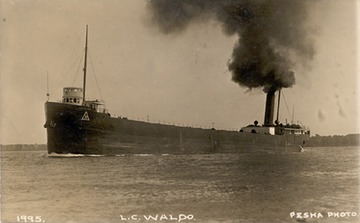 Fr. Edward J. Dowling, S.J. Marine Historical Collection: Upbound in the St. Clair River, near Marine City, Michigan, around 1910.