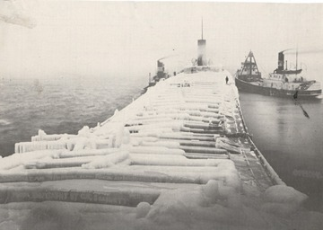 Fr. Edward J. Dowling, S.J. Marine Historical Collection: Ice on the main deck, November, 1910.