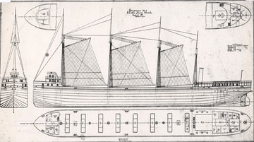 Fr. Edward J. Dowling, S.J. Marine Historical Collection: Onoko - hull plans