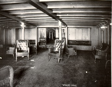Fr. Edward J. Dowling, S.J. Marine Historical Collection: Interior, women's lounge, 1920s.