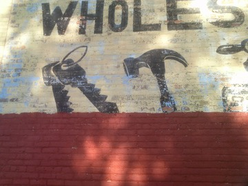 Hardware Wholesale Sign, Detail. Detroit, July 2015