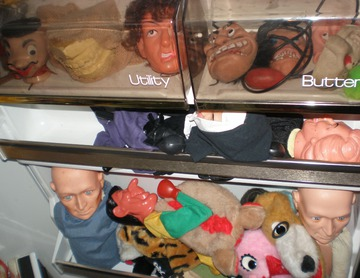 Maurice Greenia, Jr. Collections: Refrigerator Puppets. Detroit, 2012