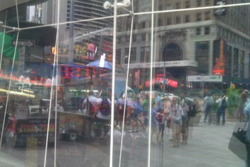 Window World. New York, Times Square, August 2015