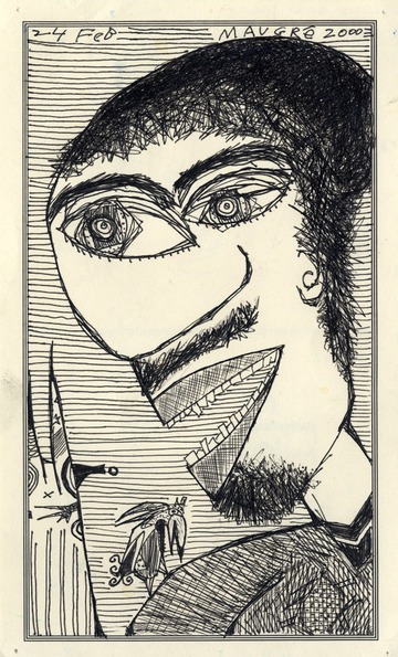 Maurice Greenia, Jr. Collections: Figure with Bird, for the D.I.A.