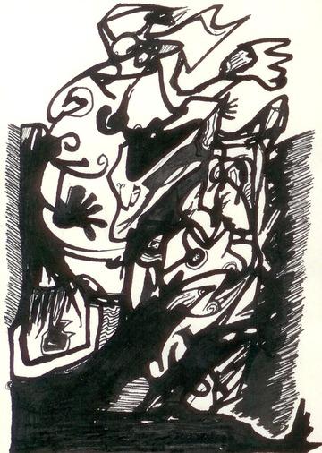 Maurice Greenia, Jr. Collections: Bamboo pen, 1995