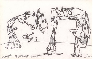 Maurice Greenia, Jr. Collections: Scorn, drawn in Baltimore, in 1997