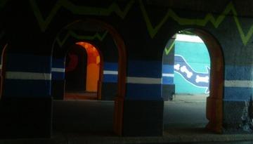 Railroad Underpass, on Third. Detroit, 2014