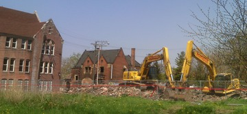 Maurice Greenia, Jr. Collections: Demolition, near Lincoln Street and Martin Luther King, Jr. Blvd. Detroit, 2015