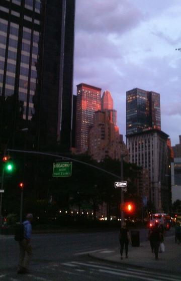 Rosy Sunset, Purple Sky. New York City, 2015