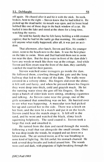 [SIC] Volume 2, Number 1, Fall 1993 University of Detroit Mercy