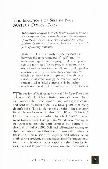 [SIC] Volume 6, Winter 1998 University of Detroit Mercy