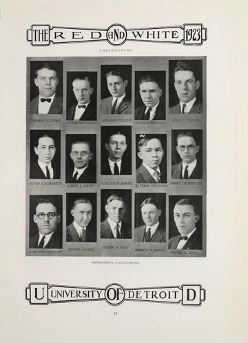 University of Detroit Red and White. 1923