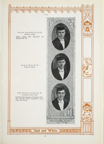 University of Detroit Yearbook Collection: The Red and White 1924