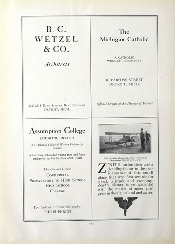 University of Detroit Yearbook Collection: The Red and White