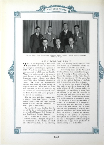 University of Detroit Yearbook Collection: The 1930 Tower