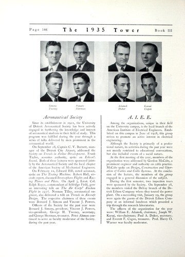 University of Detroit Yearbook Collection: The 1935 Tower