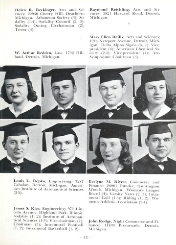 University of Detroit Yearbook Collection: Tower Senior Year Book