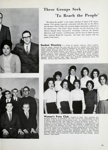 University of Detroit Yearbook Collection: Tower '63