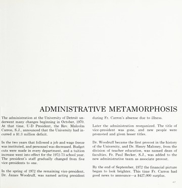 The Urban 1973 Almanac and yearbook -- A Guide to the University
