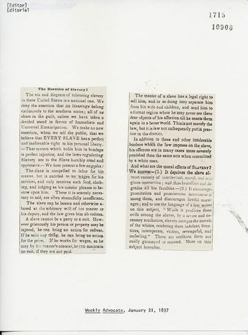 Weekly Advocate - January 21, 1837