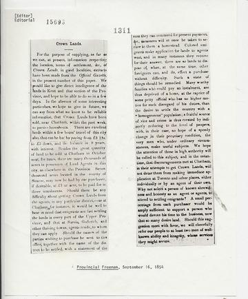 Provincial Freeman - September 16, 1854
