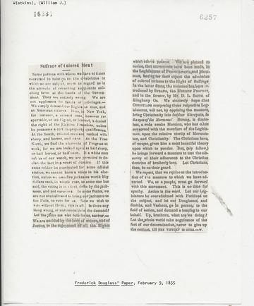 Frederick Douglass' Paper - February 9, 1855