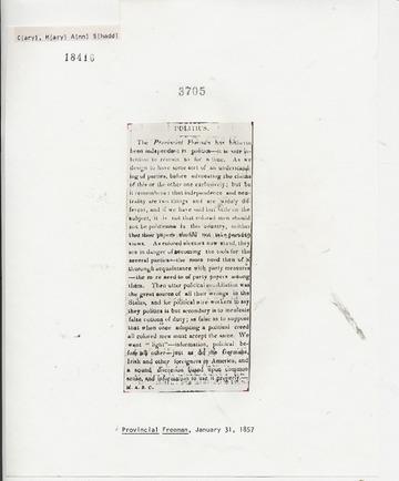 Provincial Freeman - January 31, 1857