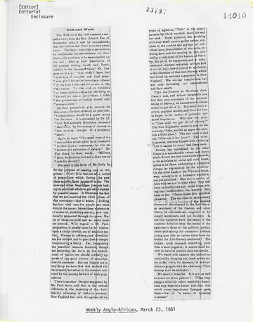 Weekly Anglo-African - March 23, 1861