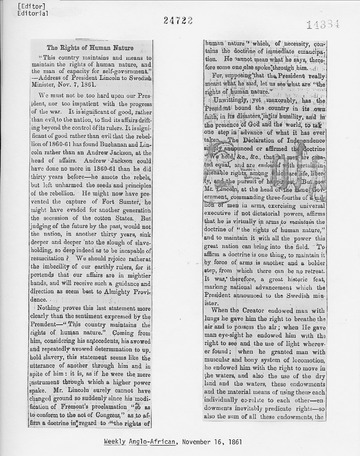 Weekly Anglo-African - November 16, 1861