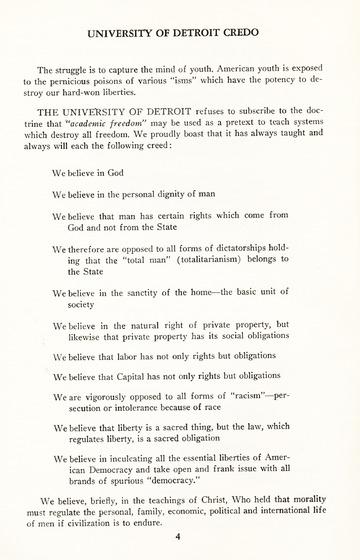 University of Detroit Commencement Exercises June 15, 1949