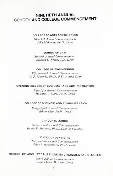 90th Annual Commencement Exercises April 28, 1973 Memorial Build