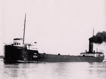 Argus - upbound, probably with coal, in the St. Clair River at Marine City, Michigan during the 1913 season - Louis Pesha photo
