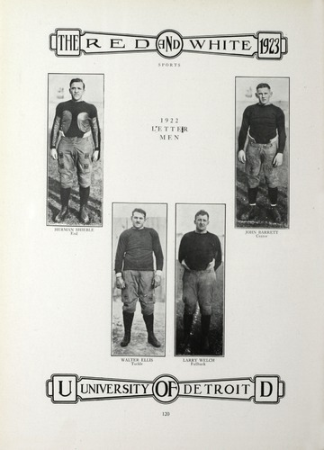 University of Detroit Yearbook Collection: University of Detroit Red and White. 1923