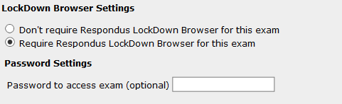 Lockdown Browser basic settings