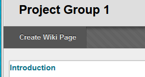 Create wiki page